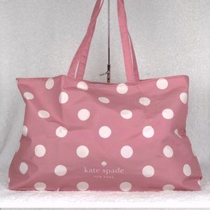 Kate Spade Reusable Shopping Tote Polka Dot Pink